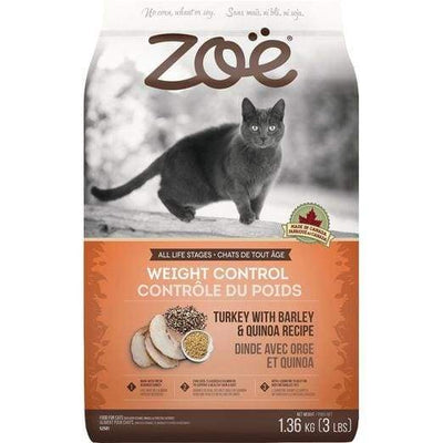 Zoe Zoe Weight Control Turkey With Barley & Quinoa Recipe Dry Cat Food Cat Food & Treats