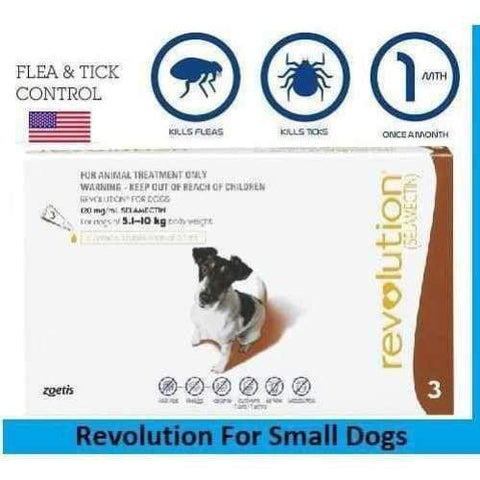 Zoetis Zoetis Revolution For Small Dogs 5.1-10kg Pack of 3 Necessities