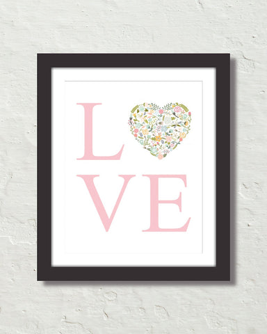 Love Typography Art No. 4 Art Print