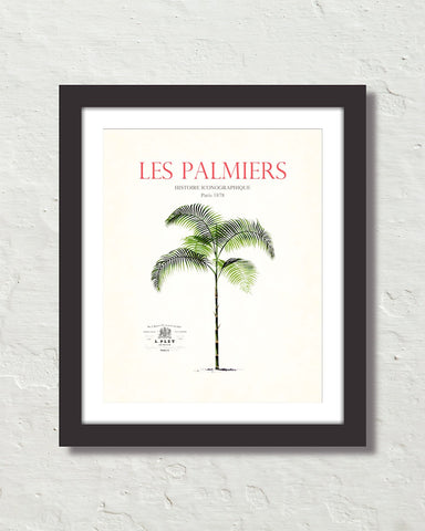 Les Palmiers Vintage French Palm Tree Collage No. 13