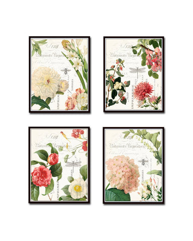 Spring Study Plate Canvas Art Print Set