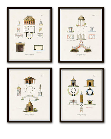 Vintage Dutch Garden Print Set No. 1