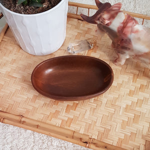 Wooden catch-all dish