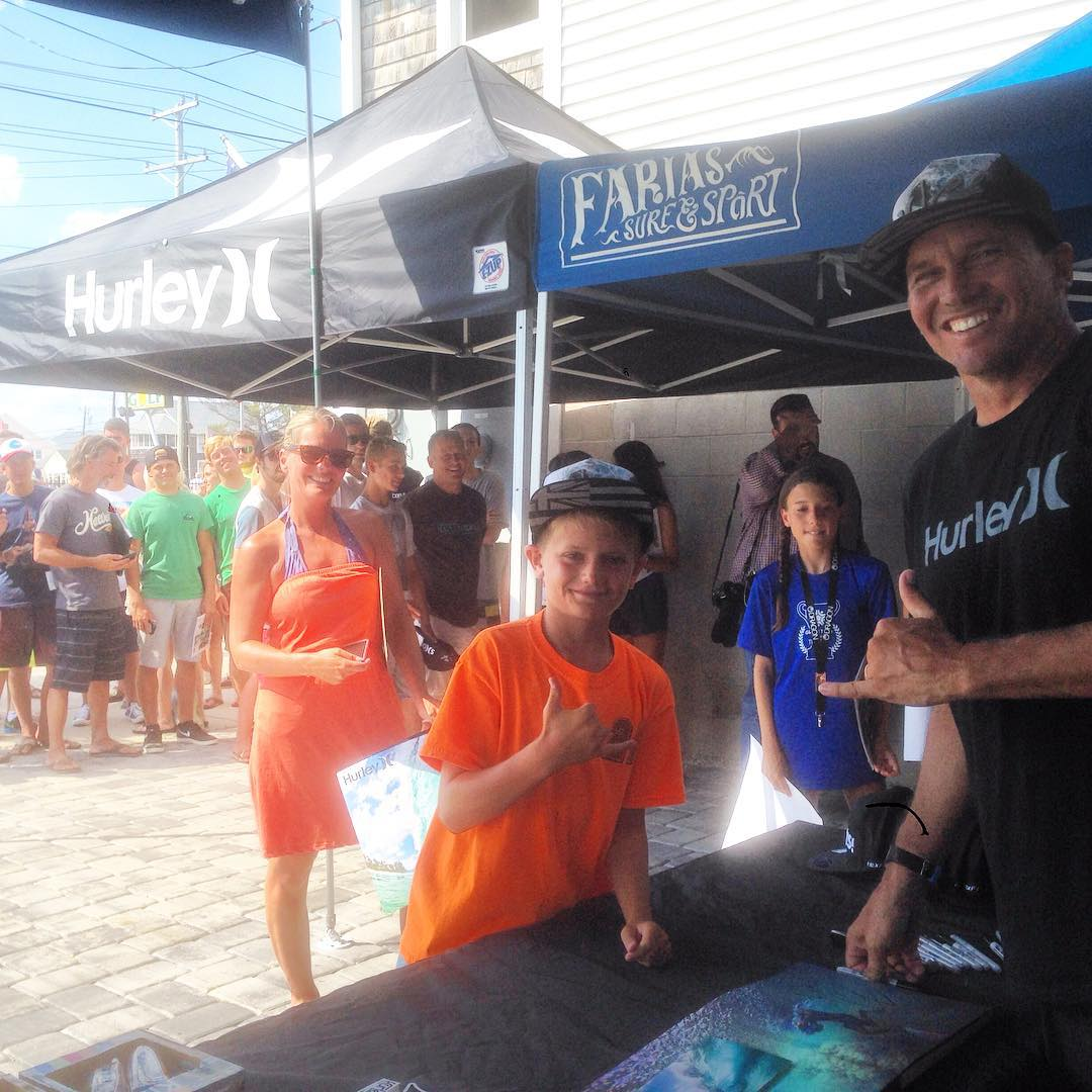 Fans at Farias Surf & Sport