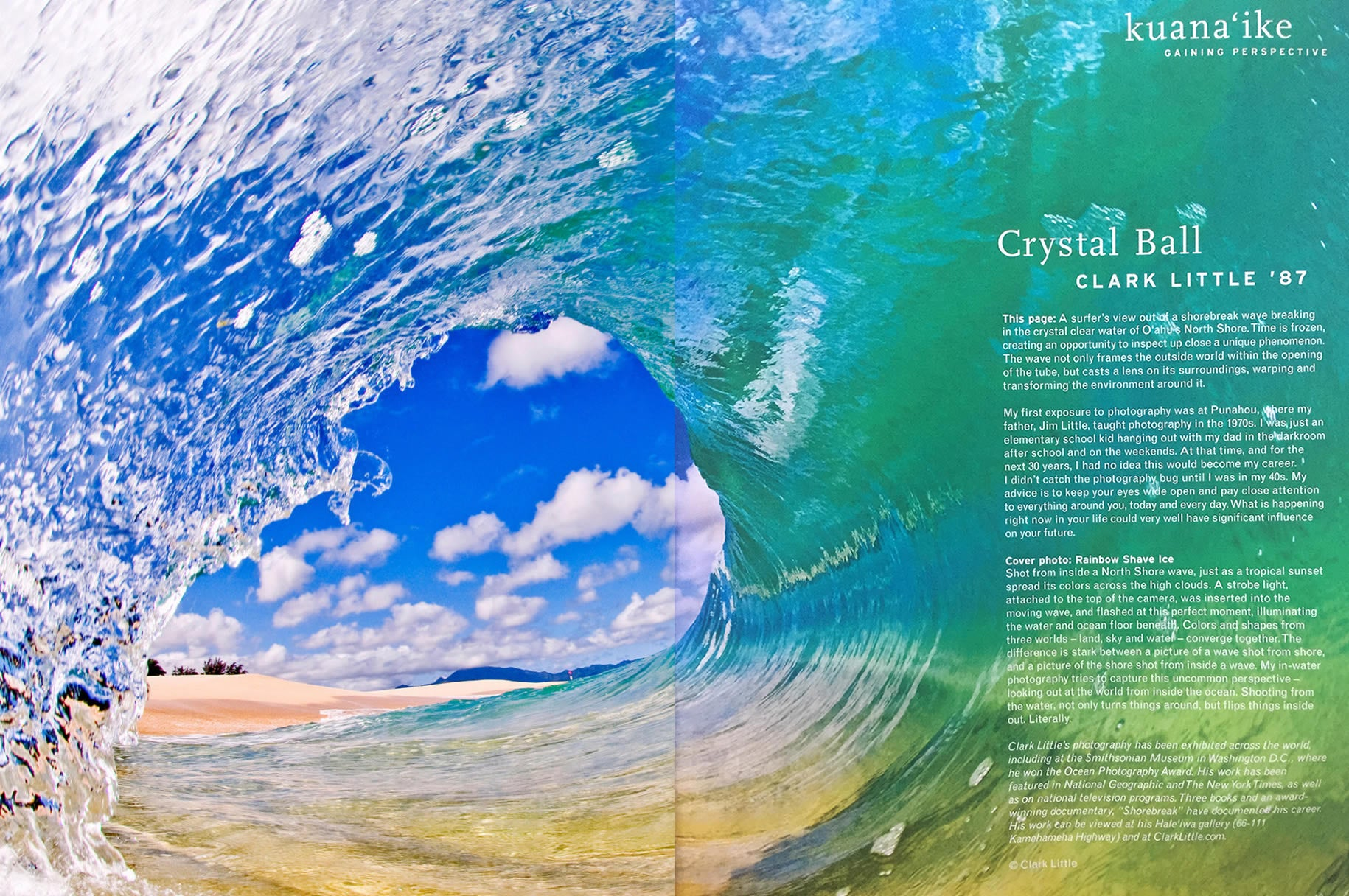 Punahou Bulletin - Inside page with Crystal Ball image