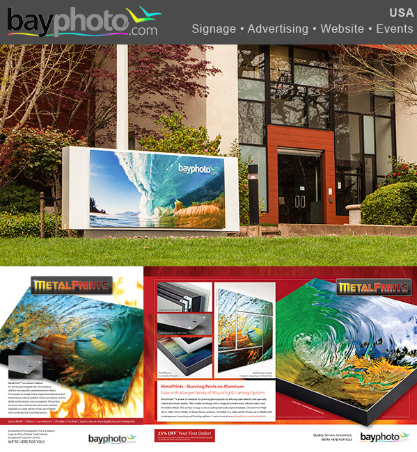 Bay Photo signage and advertisement