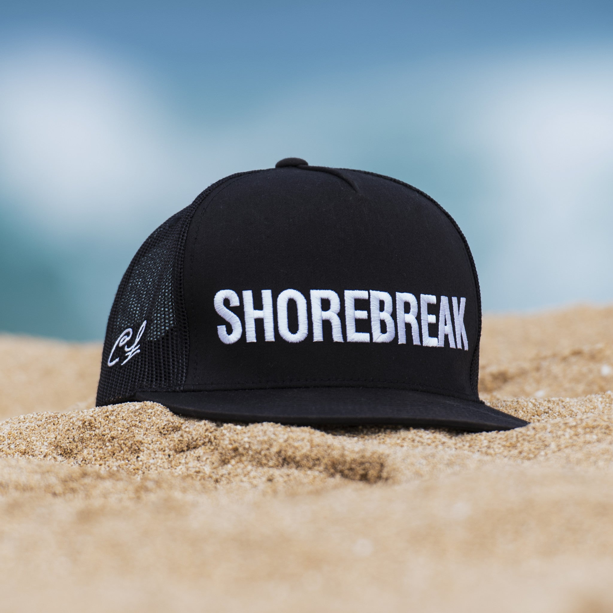 ffe71dd82b6502 Trucker Hat: SHOREBREAK - Clark Little Photography