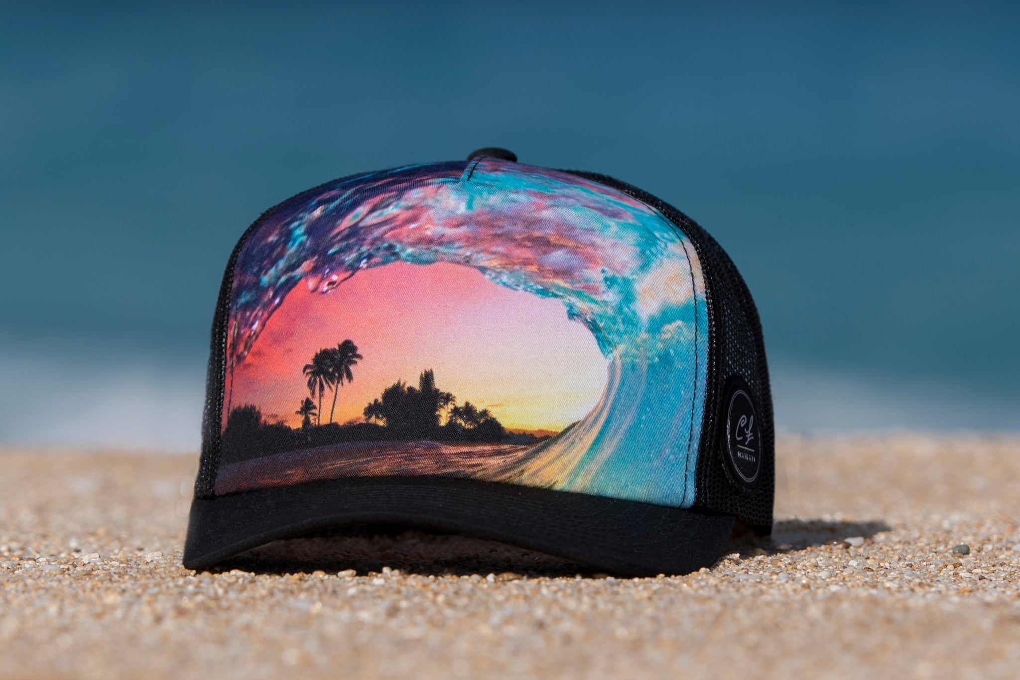 e1d1748494d4a9 Trucker Hat: Rainbow Shave Ice - Clark Little Photography
