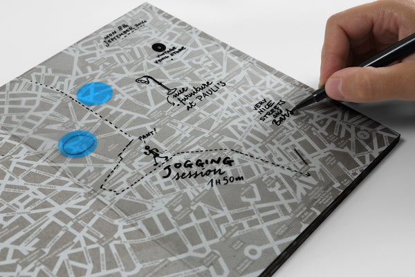 Transparent City (travel map diary)