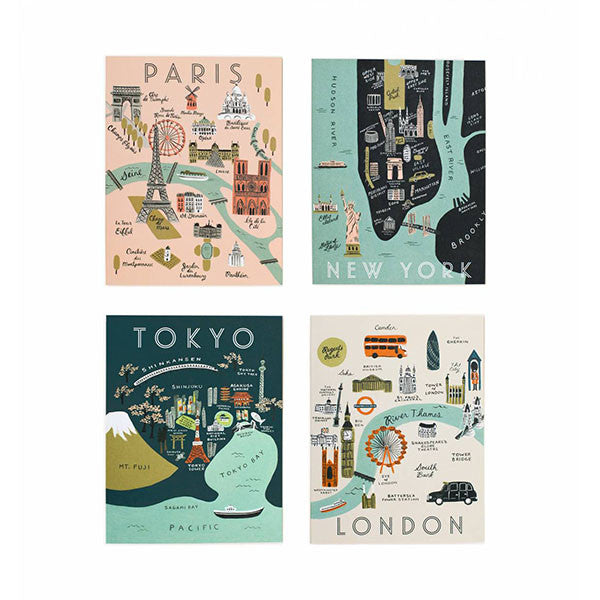 Assorted City Map Cards