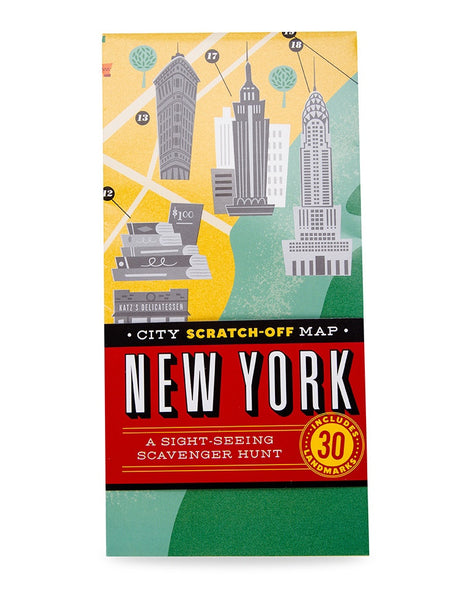 City Scratch-Off Map