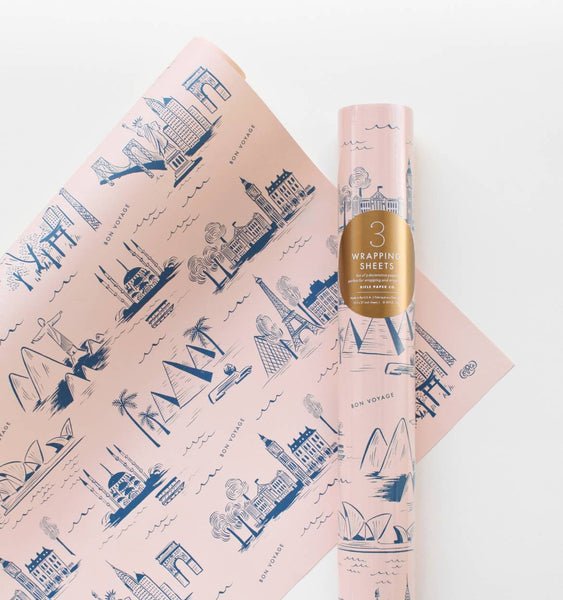 Wrapping Sheet (City Toile)