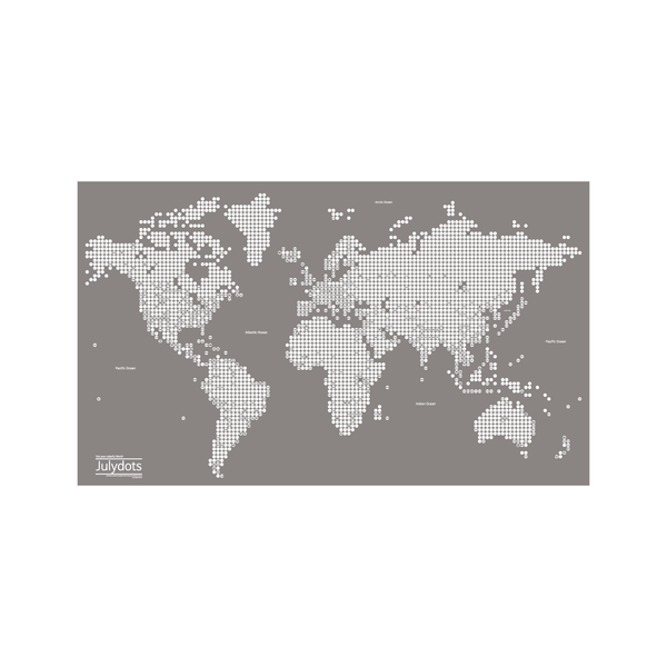 Julydots World Map