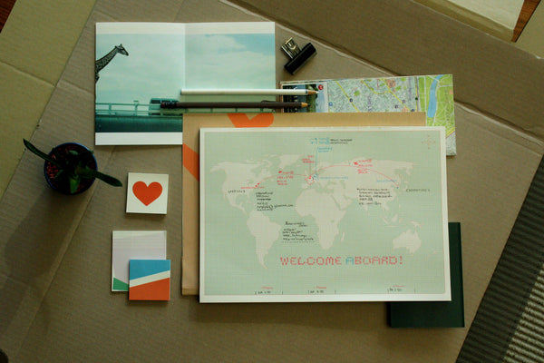 World Map Desk Notepad