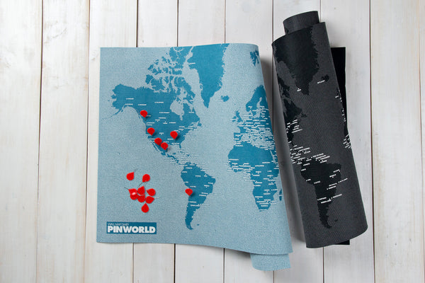 Pinworld Maps Wall Map Diary One For The Road