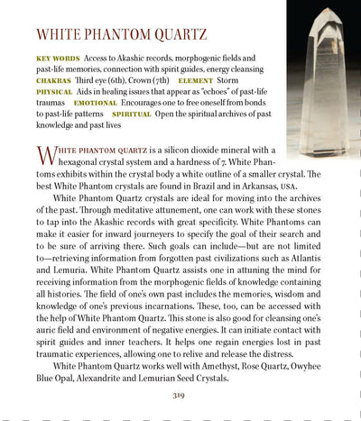 White Phantom Quartz Properties Book of Stones