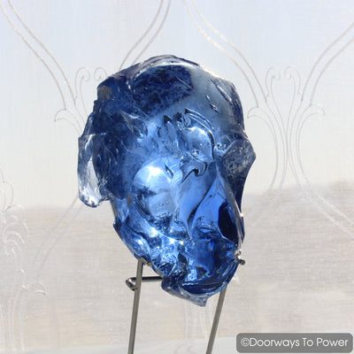 Original Lady Nellie Blue Monatomic Andara Crystal Skull 'Blue Pearl' Rare
