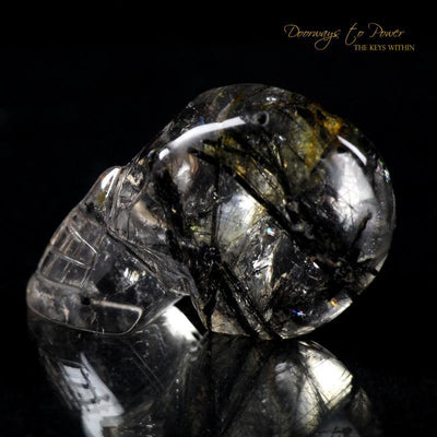 Tourmalinated Quartz Crystal Skull 'Ancient Code'