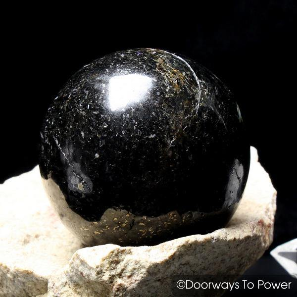 Nuummite Crystal Gemstone Sphere