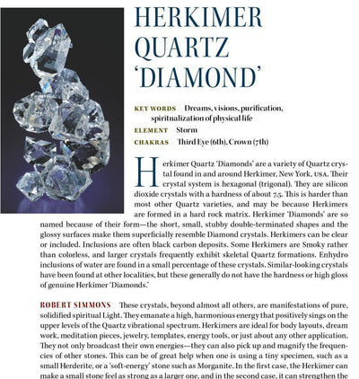 Herkimer Diamond Properties Book of Stones