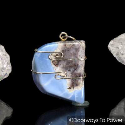 Owyhee Blue Opal Crystal Healing Pendant from Oregon
