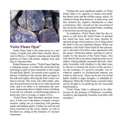 "Violet Flame Opal Crystal ""Purple Ray of Purification"""