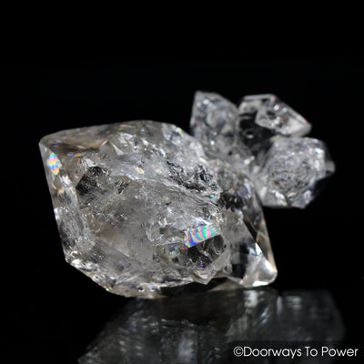 Herkimer Diamond Double Terminated Crystal with Sunken Record Keeper 'Traveler'