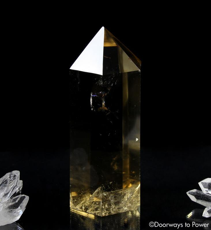 Citrine Quartz Crystal Generator Point 'Prosperity Goddess'