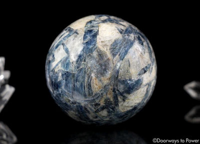 Blue Kyanite Crystal Sphere Rare Energetic cleansing + Aligns Balances all Chakras