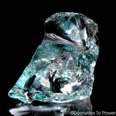 Aqua Serenity Monatomic Andara Crystal 'Atlantean Hologram' with Rainbows
