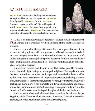 Amazez Azeztulite Metaphysical Properties Book of Stones