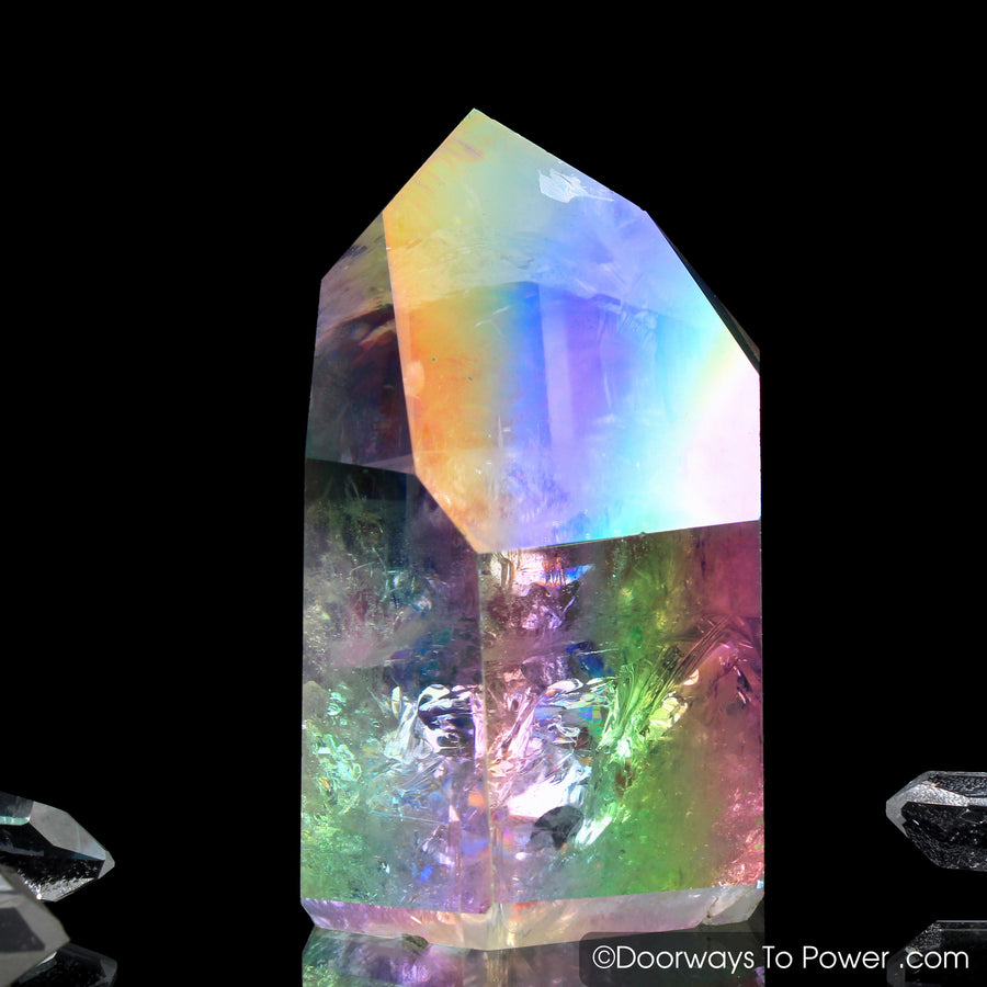 "Angel Aura Lemurian Pleiaidan Starbrary Crystal Point ""Galactic Radiance"""