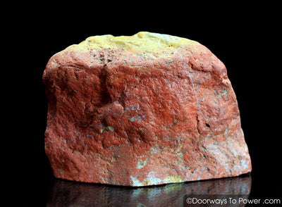 Red Fire Azeztulite Crystal Altar Stone 'Power & Passion'