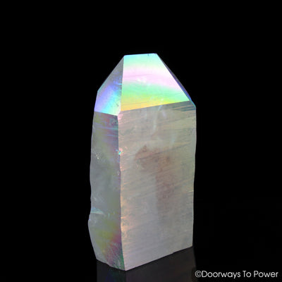 "Angel Aura Lemurian Seed Pleiaidan Starbrary Record Keeper Manifest Spirit Crystal Point ""Heavenly Realm"" 7 lbs"