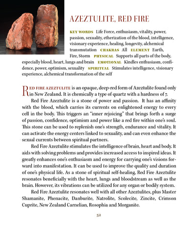 Red Fire Azeztulite Properties Book of Stones