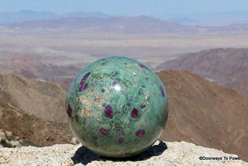 "5.6"" RUBY FUCHSITE Sphere Museum Quality - Stunning Rubies 10 lbs"