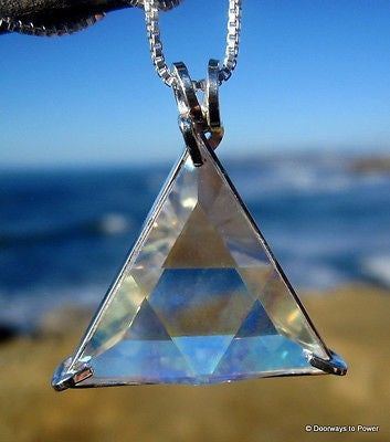 Angel Aura Quartz Star of David Crystal Pendant