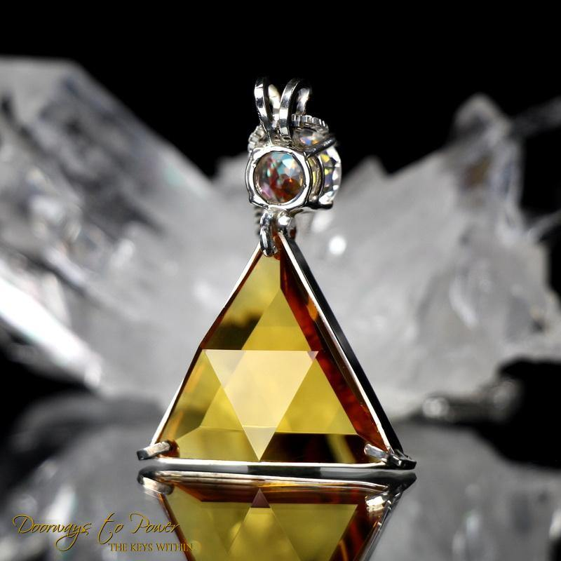 Siberian Gold Quartz Mystic Topaz Star of David Pendant