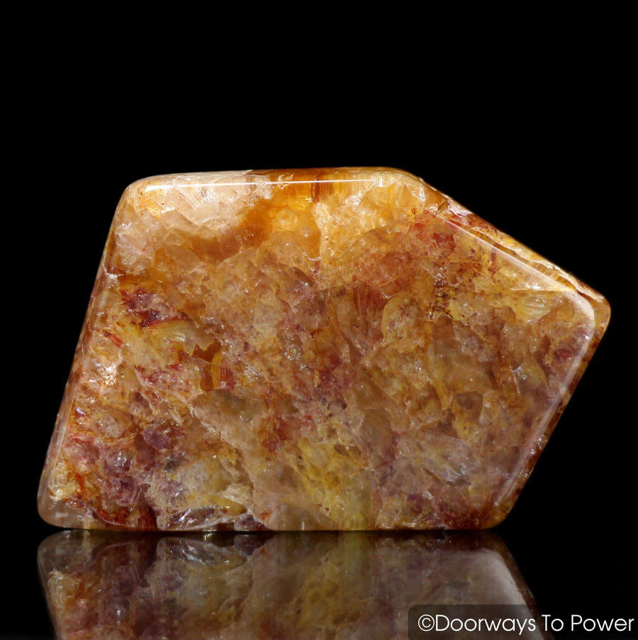 Himalaya Red Gold Azeztulite Crystal Tumbled & Polished