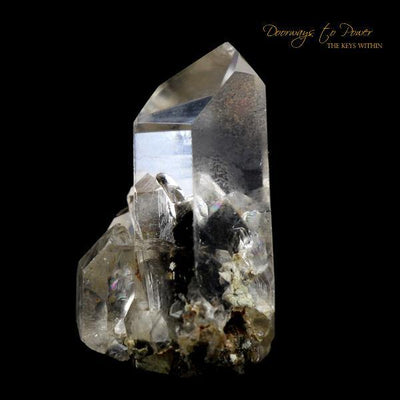 Brookite in Natural Manifestation Quartz Twin Crystal