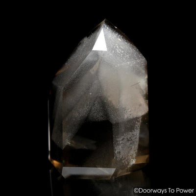 Golden Lemurian Phantom Manifestation Quartz Crystal w/ Rainbows 'Levels'