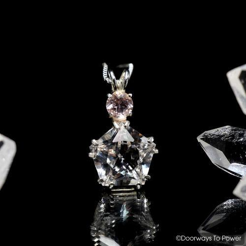 Danburite Star of Venus Pendant with Morganite