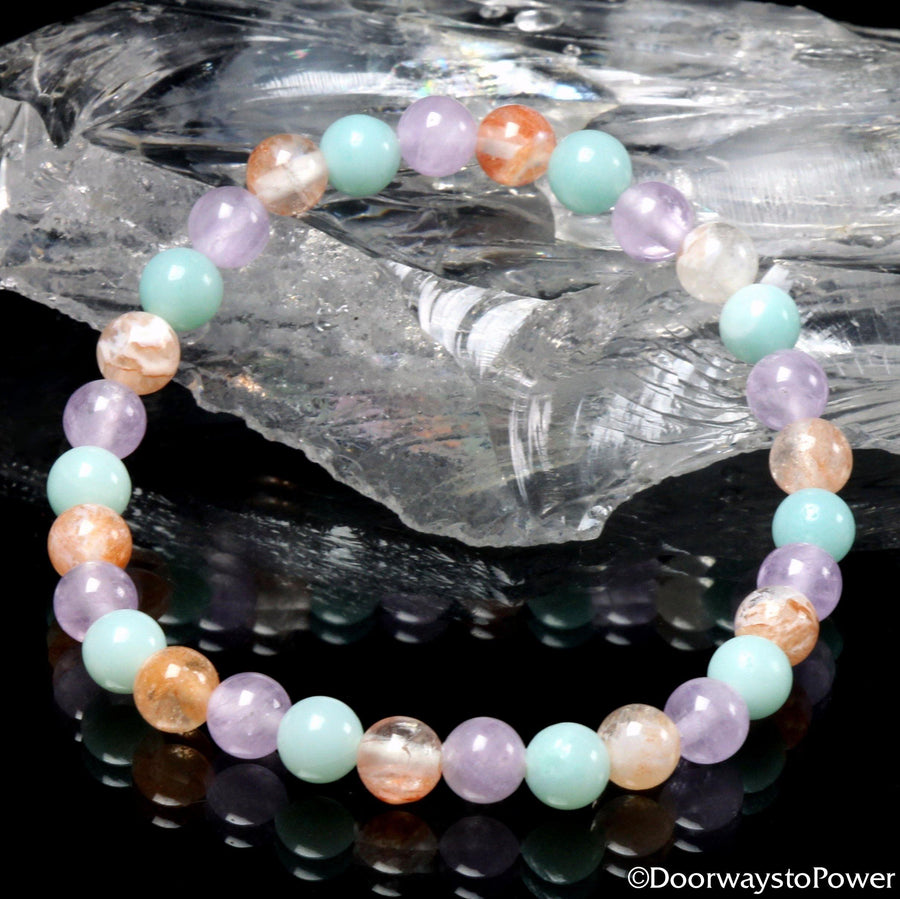 Pure Joy & Happiness Crystal bracelet Azumar, Amazez and Pink Fire Azeztulite.