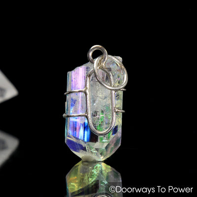Angel Aura Danburite Synergy 12 Stone  Crystal Pendant