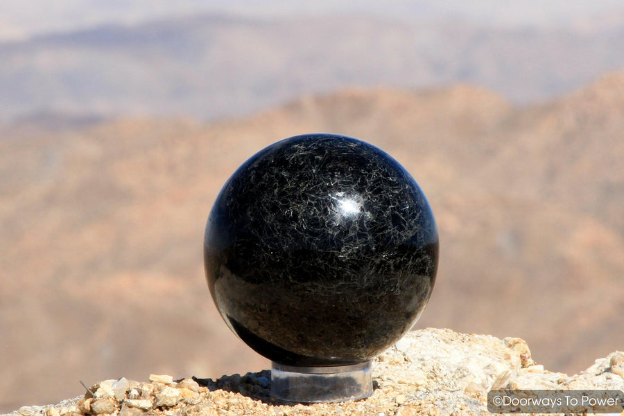 Shamanic Black Tourmaline Magicians Sphere 'Energy Shield'