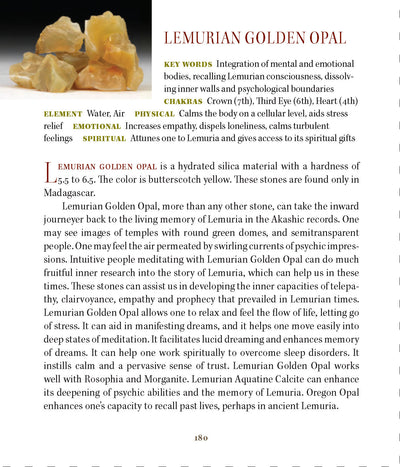 Lemurian Golden Opal Properties Book of Stones