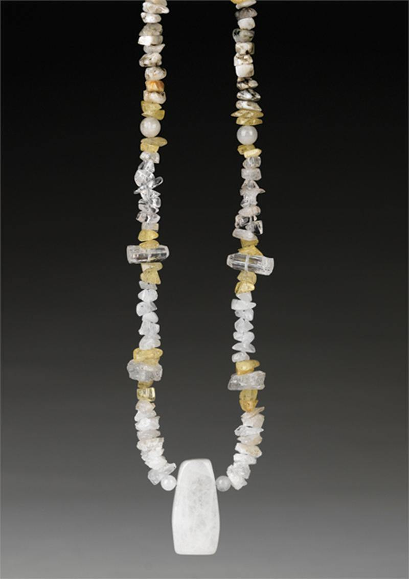Azeztulite, Agni Gold Danburite, White Danburite, Phenacite and Petalite crystal necklace