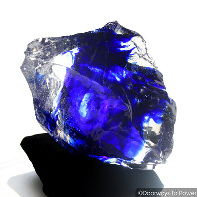 Tanzanite Fire & Elestial Starlight Monatomic Andara Crystal 'ARCTURIAN STAR-SHIP' 5D