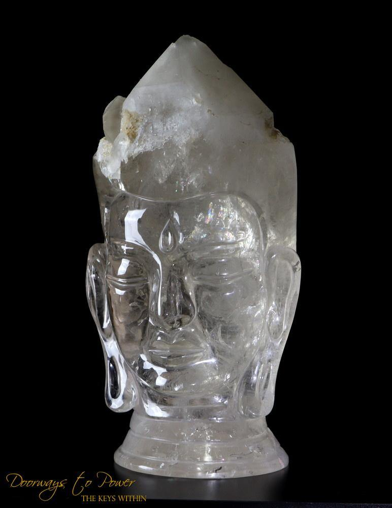 Large Citrine Crystal Buddha Head Sculpture