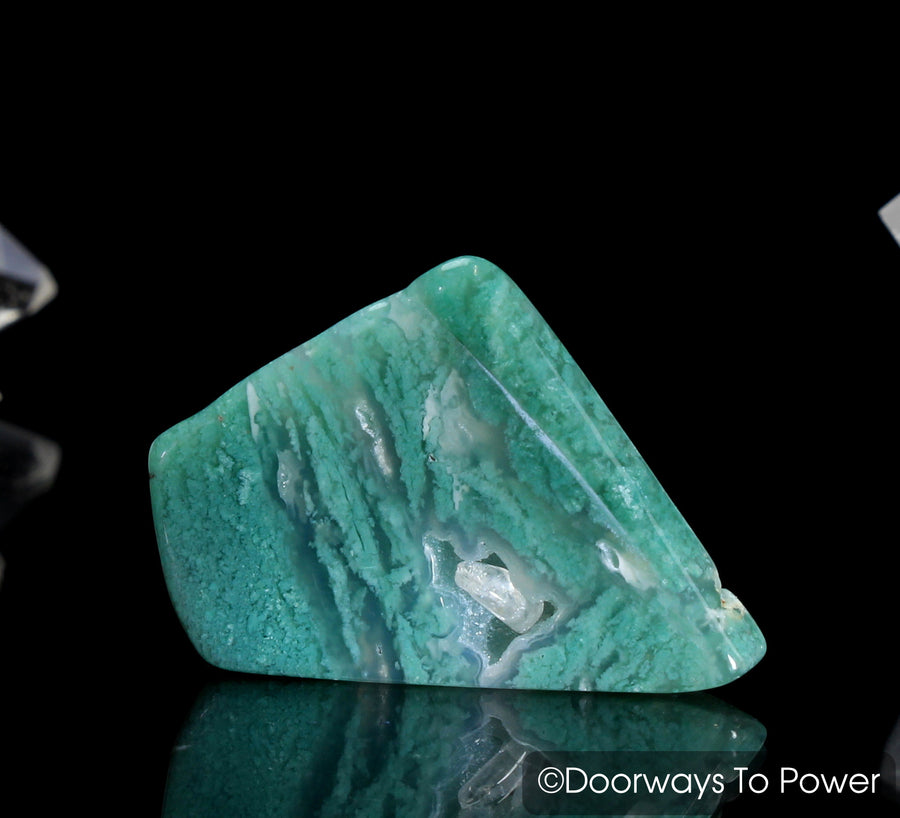 Trulite Silica Gemstone with Crystal Point Inside